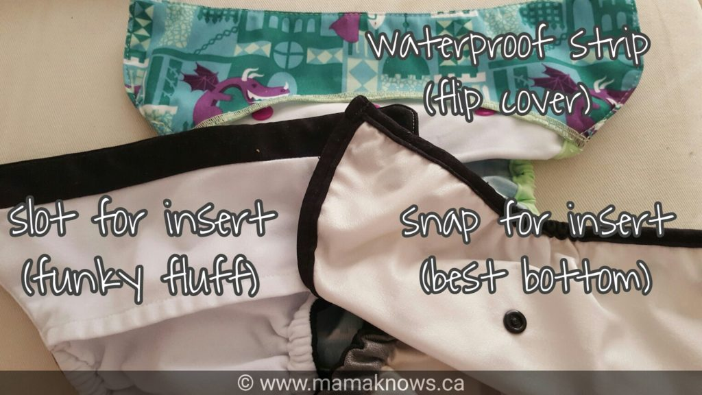 cloth diapers inside front waistband
