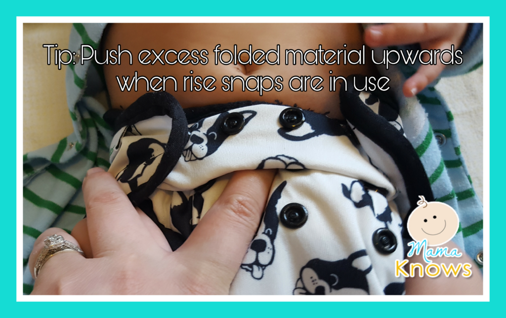 Push rise material upwards cloth diapers