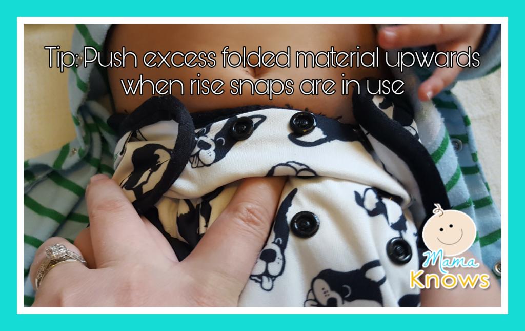 Push rise material upwards cloth diapers