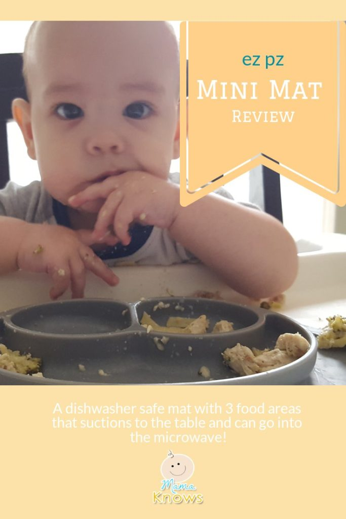 Ez pz baby food mat silicone plate