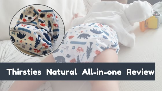 Title image thirsties natural all in one diaper review