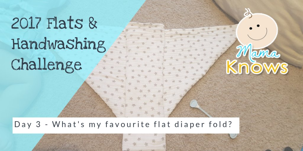 flats challenge day 3 favourite flat diaper fold