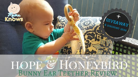 hope and honeybird bunny ear teether giveaway and discount code
