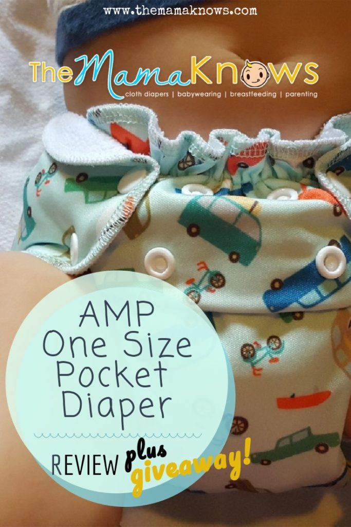 A detailed review of this one size AMP cloth diaper with bamboo and hemp insert options