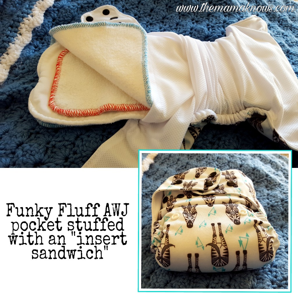 pocket diaper insert sandwich for overnight cloth diapers