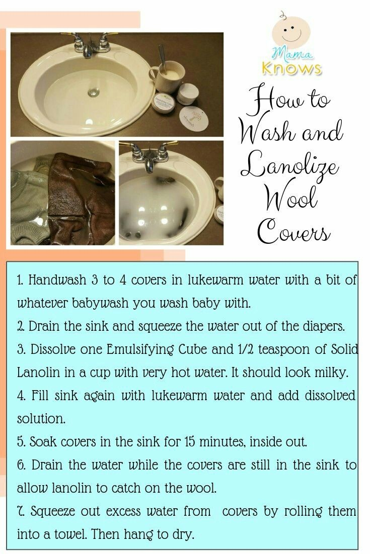 how to wash and lanolize wool diaper covers
