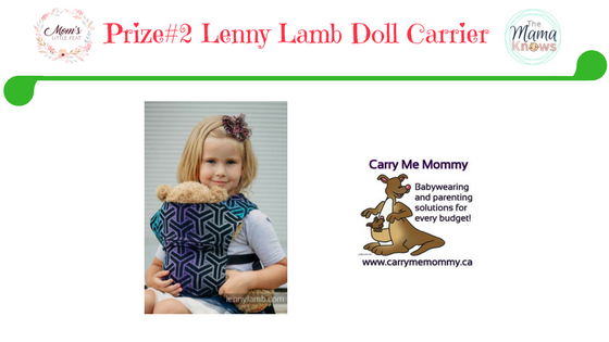 Prize #2 Lenny doll carrier