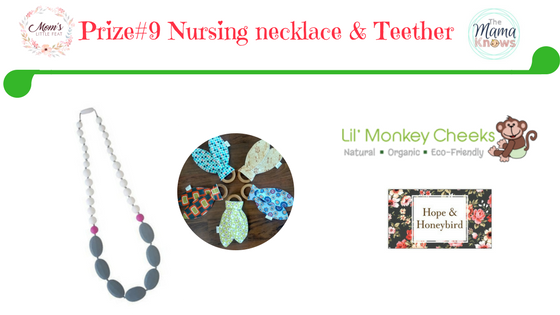 bunny ear teether and teething necklace