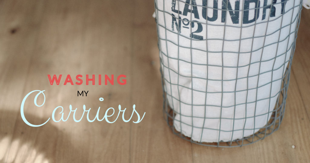 In my laundry room: Washing Carriers and Wraps