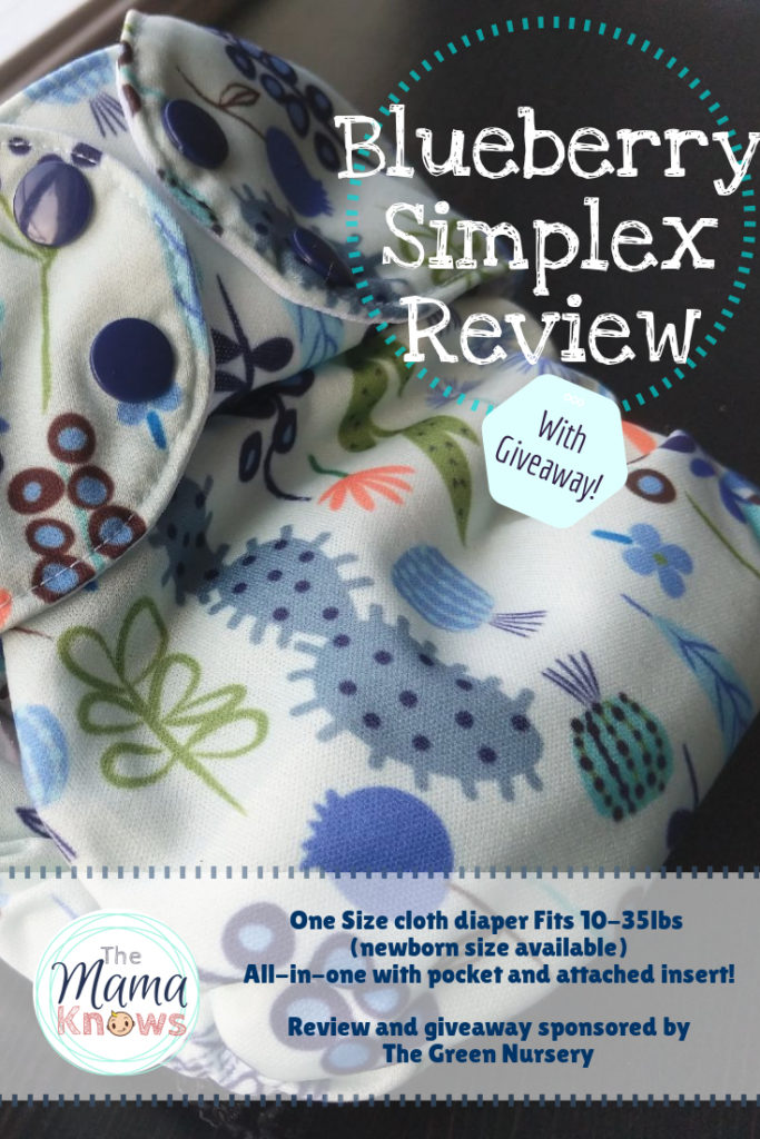 Read about the Blueberry Simplex cloth diaper and enter to win!