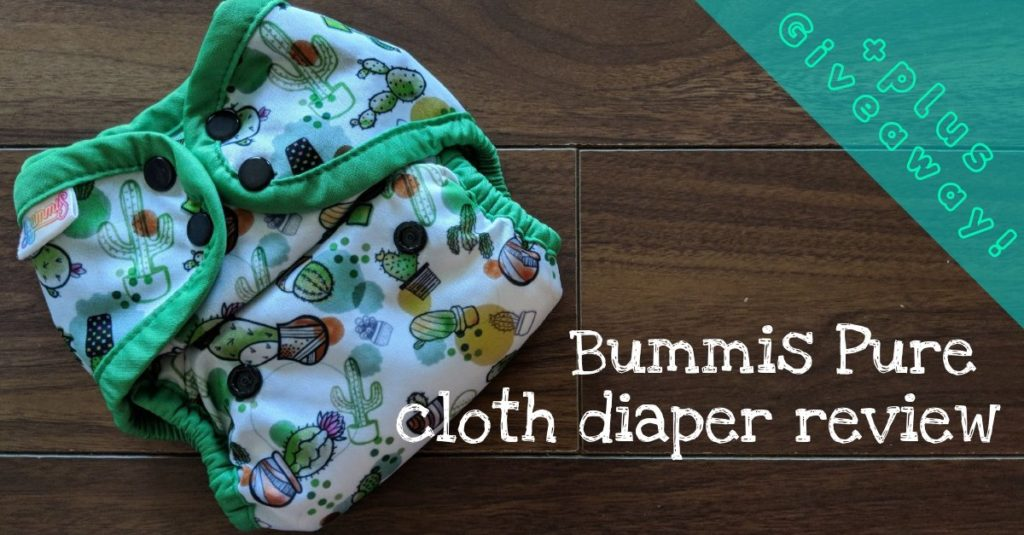 Bummis Pure All-in-one Cloth Diaper Review (+Giveaway)