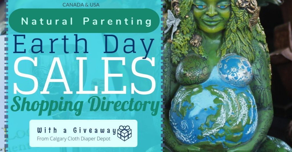 Earth Day Sales and Cloth Diaper Giveaway
