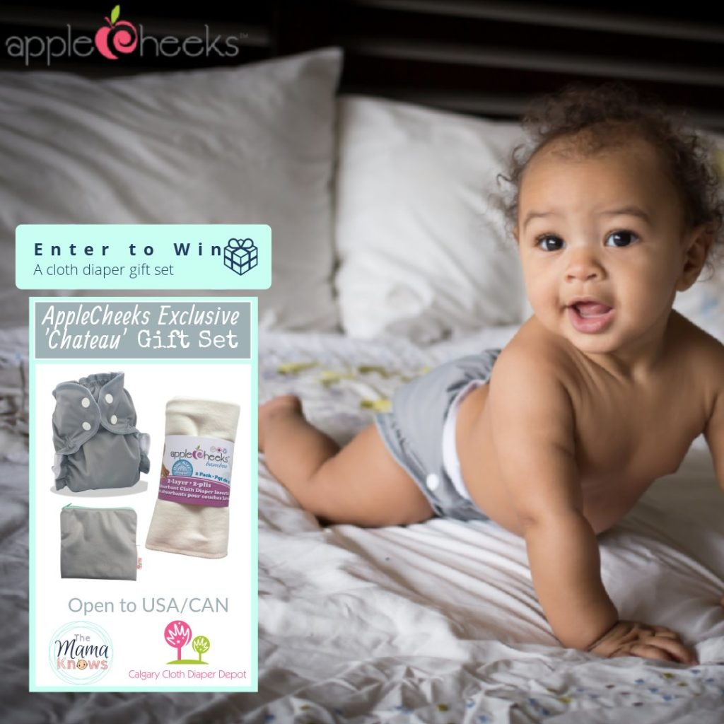 Enter to win an AppleCheeks Chateau gift set from Calgary Cloth Diaper Depot