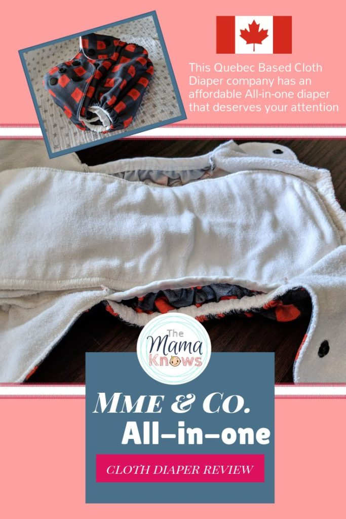 Check out this affordable All-in-one cloth diaper with great absorbency, from Canadian company Mme & Co