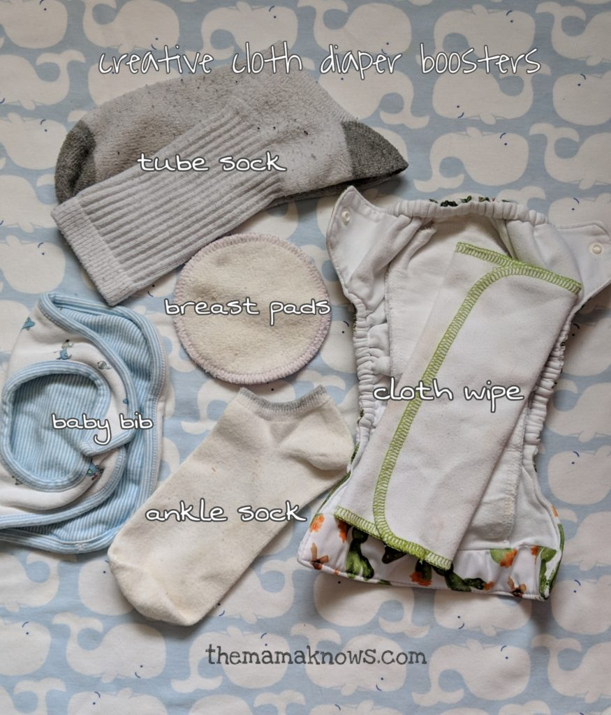 If you're getting leaks with your cloth diapers, and the inserts are completely saturated- it means you need more absorption. The best way to achieve this is with a cloth diaper booster! Choose some of these repurposed options to save money.
