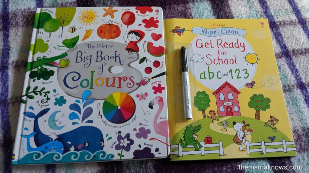 Usborne books big book of colours wipe- clean ready for school